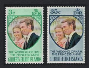 Gilbert and Ellice Royal Wedding Princess Anne 2v SG#221-222