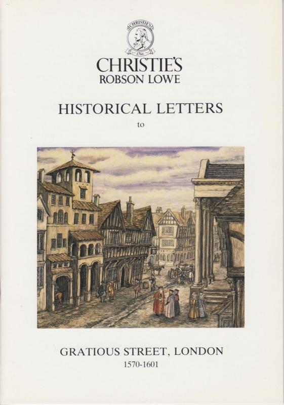 Historical Letters to Gratious St. London, by Robson Lowe. NEW