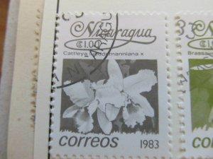 Nicaragua 1983 Flower 1cor fine used stamp A11P11F109