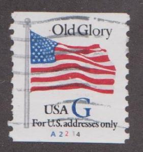 US #2890 Old Glory Used PNC Single plate #A2214
