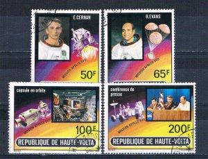 Burkina Faso 289-93 Used set Apollo 17 1973 (HV0192)