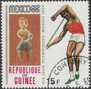 Guinea 1968 Scott # 524 NH CTO. Free Shipping for All Additional Items