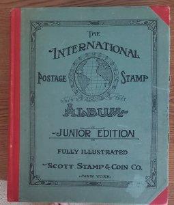 Vintage 1927 Scott Junior Edition Stamp Album, Beautiful, clean