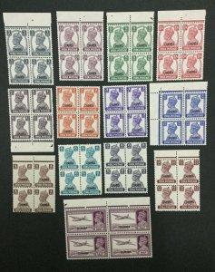 MOMEN: INDIA CHAMBA SG #108-120 BLOCKS MINT OG NH LOT #193898-2348