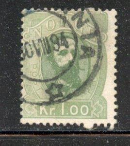 Norway # 32, Used. CV $ 12.50