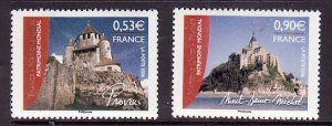 France-Sc#3219-20- id2-Unused NH set-UNESCO World Heritage Sites-2006-