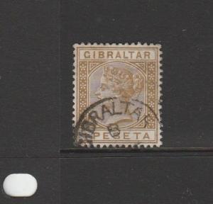 Gibraltar 1889 1p Bistre cds Used SG 30