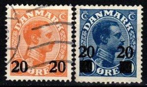 Denmark #176-7  F-VF Used CV $33.00 (X9153)