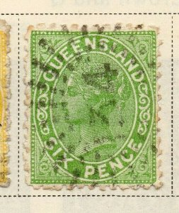 Queensland 1882-83 Early Issue Fine Used 6d. 326879