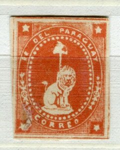 PARAGUAY; 1860s early classic Lion Type PROOF COLOUR TRIAL Mint value