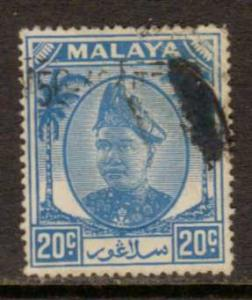 Malaya-Selangor   #98  used  (1952)  c.v. $0.35