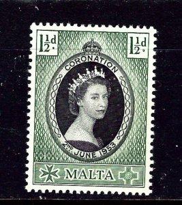Malta 241 MH 1953 QEII Coronation