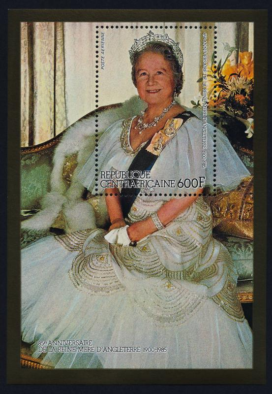 Central Africa 698B MNH Queen Mother 85th Birthday