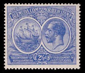 BERMUDA Scott 68 MH* Seal of Colony and KGV 1920-21 CV $18