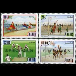 NEVIS 1986 - Scott# 525-8 Sports Specimen Set of 4 NH