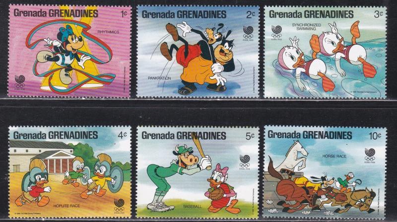 Grenada Grenadines MNH 739-44 Disney's Seoul Olympics