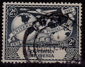 Zimbabwe (Southern Rhodesia) - #71 - 1949 - FU - CV$0.50