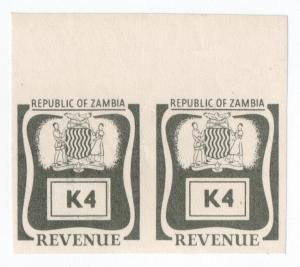 (I.B) Zambia Revenue : Duty K4 (printer's proofs)