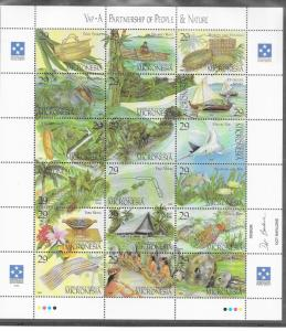 Micronesia #186   29c YAP Culture sheet of 18 (MNH) CV$12.50