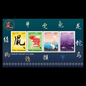 New Zealand stamps 2019. Year of the Rat 2020.sheet