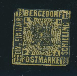 Bergedorf (German State) Stamp Scott #3, Used? - Free U.S. Shipping, Free Wor...