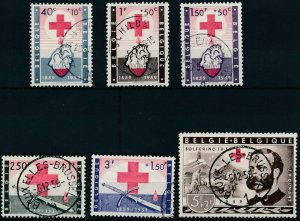 [2015] Belgium 1958 Red Cross good Set very fine Used Stamps