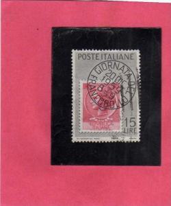 ITALIA REPUBBLICA ITALY REPUBLIC 1959 PRIMA GIORNATA DEL FRANCOBOLLO 1th STAM...