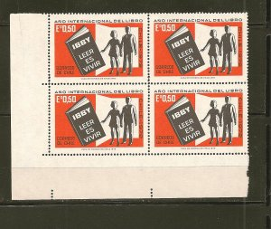 Chile 429 Book and Young People Block of 4 MNH