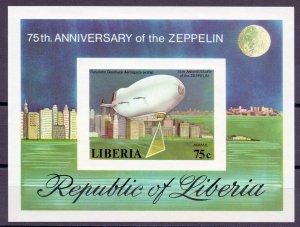 Liberia. 1978. 1054B-59B BL88B 6LB. Airships. MNH.
