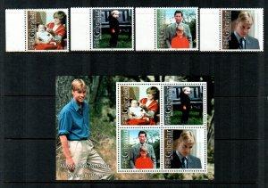 Gibraltar # 842-845a MNH  Scott $12.55  Stamps + S/S