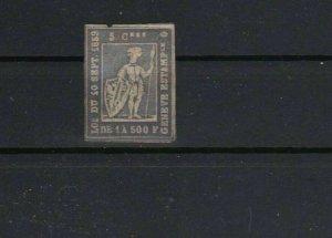 rare switzerland 1859 geneva tax stamp  ref r8855