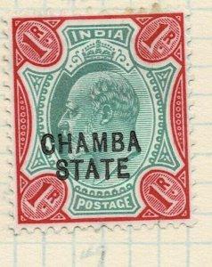 india chamba states- sg 40 -  lmm