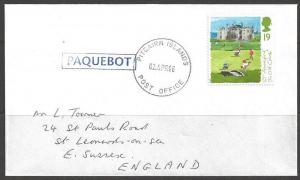 1996 Paquebot Cover, British stamp used in Pitcairn Islands (02 Apr)
