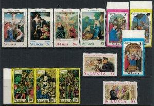 St. Lucia #367-78* NH  CV $3.55