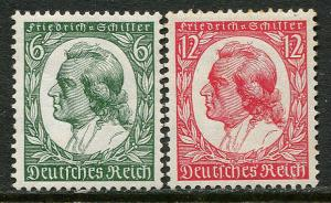 GR Lot 10350 German Postage 1934 Michel 554 - 555 NMNH - sm dist Schiller