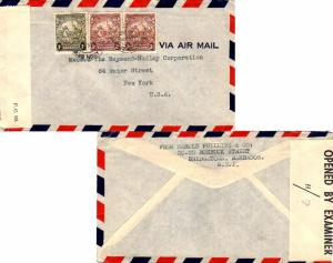 Barbados 3d (2) and 1/- Seal of the Colony 1942 Circulation Branch, G.P.O. Ba...