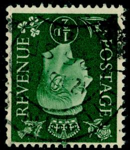 SG462Wi, ½d green, FINE USED, CDS. WMK INV