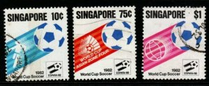 SINGAPORE SG424/6 1982 WORLD CUP FOOTBALL FINE USED