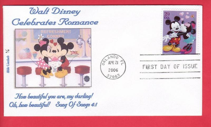 2006 Disney Mickey & Minnie Mouse-Wile Cachet Design