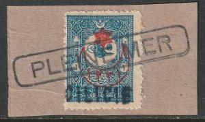 Cilicia 1919 Sc 6 used Pleine Mer ship cancel on piece