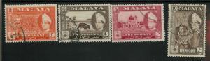Malaya Trengganu 76-78,80 Used VF LH