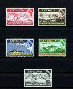 ANTIGUA - 1958 - QE II  - ST JOHN'S - DEEP WATER HARBOR - MAP + MINT MNH SET!