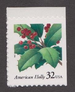 3177 American Holly F-VF MNH single from bklt