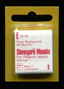 Showgard Clear Stamp Mounts E 22/25 PreCut  (40 count)