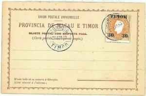 01547 - PORTUGAL : TIMOR - POSTAL HISTORY - Proforma POSTCARD