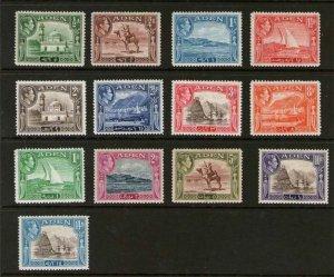 Aden 1939 KGVI Sc 16-27a MH
