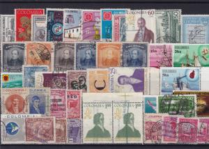 colombia vintage stamps ref r13941
