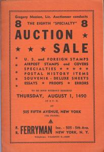 Ferryman: Sale # 8  -  U.S. & Foreign Stamps, Airpost Sta...
