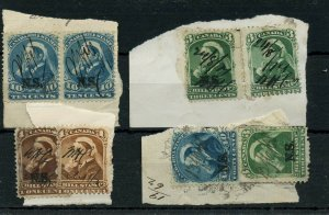 Nice lot of pieces with several  NS 3rd BILL STAMPS 1868 Revenue