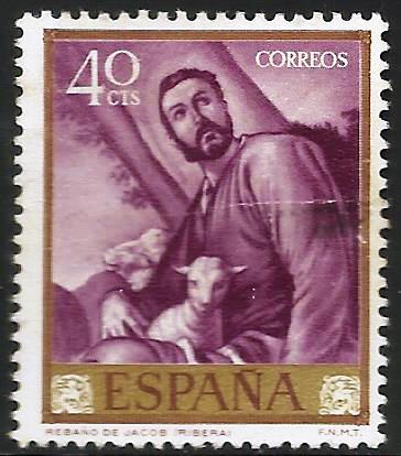 Spain 1963 Scott# 1160 Used (crease)